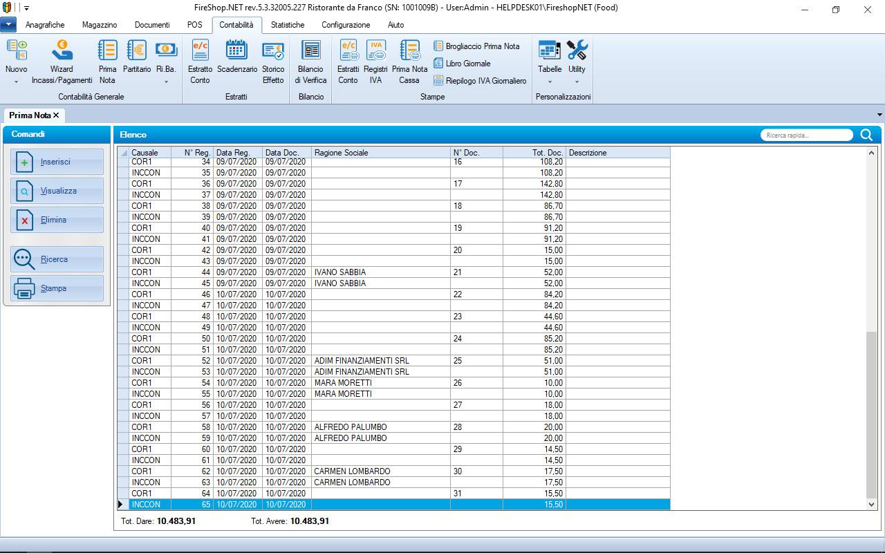 Gestione Prima nota e contabilità